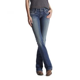 Ariat Women's R.E.A.L Mid-Rise Stretch Entwined Boot Cut Jean