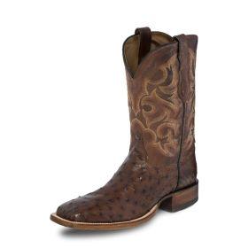 Justin Lavaca Full Quill Ostrich Boots