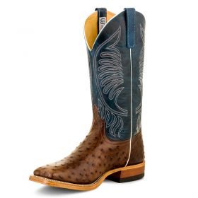 Anderson Bean Men's Kango Tobac Full Quill Ostrich Boots
