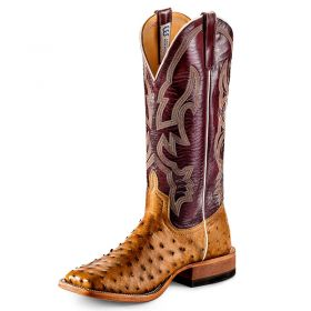 Anderson Bean Men's Antique Saddle Full Quill Ostrich Boots