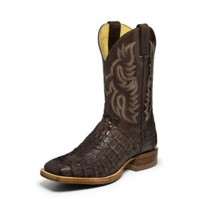 Justin Voltage Almond Brown Caiman CPX Series Boots