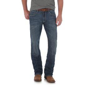 Men's Wrangler Rock 47 Slim Fit Straight Leg Jeans - SG Wash