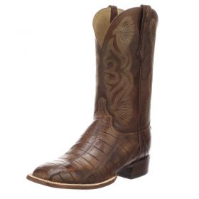Lucchese Roy Brown Giant Gator Boots