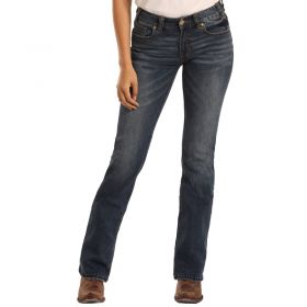 Women's Rock & Roll Cowgirl Mid Rise Extra Stretch Bootcut Jeans