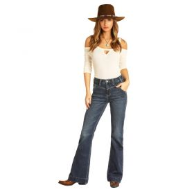 Women's Rock & Roll Cowgirl High Rise Extra Stretch Trouser Jeans