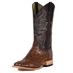 Men's Kango Tobac Full Quill Ostrich Top Hand by Horse Power Boots