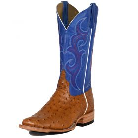 Men's Antique Saddle Full Quill Ostrich Top Hand by Horsepower Boots