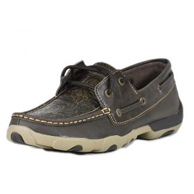Twisted X Ladies Brown Tooled Driving Moc