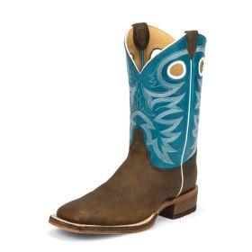 Justin Mens Copper Rough Rider Bent Rail Boots BR742