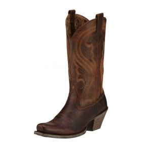 """Ariat Women's Fashion Lively Sassy Brown Foot with 12"""" Upper 10016357"""
