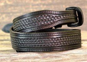 Leather Belt - Black Basket Ranger