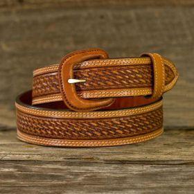 Leather Belt - Russet Basket