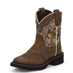 Justin Kids Gypsy Collection Aged Bark Vamp Real Tree Camo Upper 9603JR