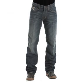 Cinch Men's Dark Stone Wash White Label Relaxed Fit Jeans