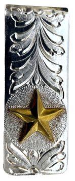 Money Clip - Hand Engraved w/ Jeweler's Bronze Star
