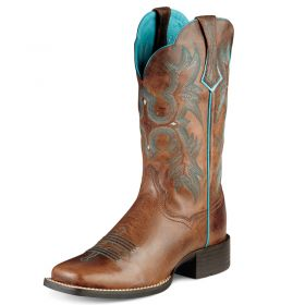 """Ariat Women's Tombstone Sassy Brown with 11"""" Upper 10008017"""