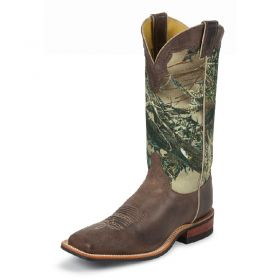 Justin Men's Chocolate America Cowhide Boots